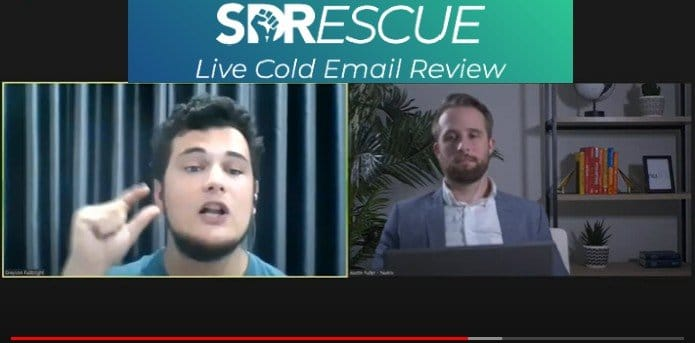 Screenshot of SDRescue: Live Cold Email Review